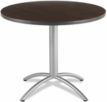 CafeWorks Cafe 36'' Round Table - Walnut [65624-ICE]