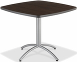 CafeWorks Cafe 36'' Square Table - Walnut [65614-ICE]