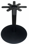 Cast Iron Round Dining Height Table Base with 28'' Base Spread and 17'' Top Plate [JI4-28RDTP17-JIB]