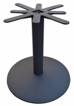 Cast Iron Round Dining Height Table Base with 28'' Base Spread and 24'' Top Plate [JI4-28RDTP24-JIB]
