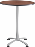 Cha-Cha™ 36'' Round; X Base Bistro Height - Cherry and Silver [2482CYSL-SAF]