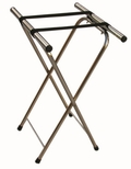 Chrome Folding Tray Stand with Nylon Straps [CTS-AA]