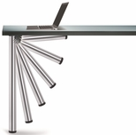 Chrome Push-Button Set of 4 Foldable Table Legs with Mounting Hardware - 27.75''H [656-70-C1-PMI]