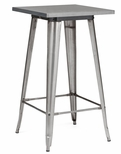 Dreux 42''H Clear Gunmetal Steel Bar Table [LS-9110-GUN-DLM]