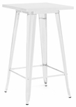 Dreux 42''H Glossy White Steel Bar Table [LS-9110-WHT-DLM]