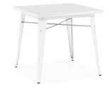 Dreux 30''H Glossy White Steel Dining Table [LS-9120-WHT-DLM]