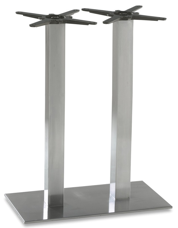 Elite stainless steel double column rectangular base bar