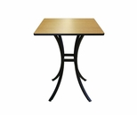 Elo Cafe 36'' Square Table at a Fixed 42'' Height with Lotz Armor Edge™ and HPL Top [ELC7088-42-NSL]