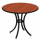 Elo Cafe 42'' Round Table at a Fixed 42'' Height with Lotz Armor Edge™ and HPL Top [ELC7191-42-NSL]