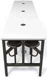 Endure 141''W Steel Frame Table with 12 Swivel Seats - Dry Erase White Table Top and Dark Vein Seats [9012-DVN-WHT-MFO]