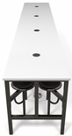 Endure 186''W Steel Frame Table with 16 Swivel Seats - Dry Erase White Table Top and Dark Vein Seats [9016-DVN-WHT-MFO]