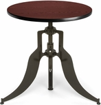 Endure 30'' Round Adjustable Dining to Bar Height Table - Mahogany [AT30RD-MHGY-FS-MFO]