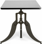 Endure 30'' Square Adjustable Dining to Bar Height Table - Gray Nebula [AT30SQ-GRYNB-FS-MFO]
