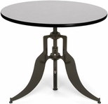 Endure 36'' Round Adjustable Dining to Bar Height Table - Gray Nebula [AT36RD-GRYNB-FS-MFO]