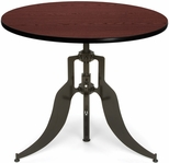 Endure 36'' Round Adjustable Dining to Bar Height Table - Mahogany [AT36RD-MHGY-FS-MFO]