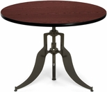Endure 42'' Round Adjustable Dining to Bar Height Table - Mahogany [AT42RD-MHGY-FS-MFO]