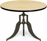 Endure 42'' Round Adjustable Dining to Bar Height Table - Oak [AT42RD-OAK-FS-MFO]
