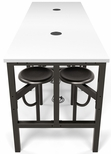 Endure 96''W Steel Frame Table with 8 Swivel Seats - Dry Erase White Table Top and Dark Vein Seats [9008-DVN-WHT-MFO]