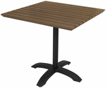 Eveleen Aluminum Outdoor Pedestal Base with 32'' Square Polymer Table Top - Mocha [TSY32S1900MA-IFK]