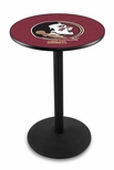 Florida State University 36''H Black Wrinkle Finish Counter Height Pub Table with Round Base [L214B36FSU-HD-FS-HOB]