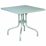 31''W Forza Square Folding Table - Silver Gray [ISP770-SIL-FS-CMP]