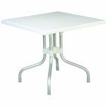 31''W Forza Square Folding Table - White [ISP770-WHI-FS-CMP]