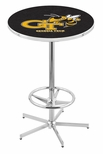 Georgia Institute of Technology 42''H Chrome Finish Bar Height Pub Table with Foot Ring [L216C42GATECH-FS-HOB]