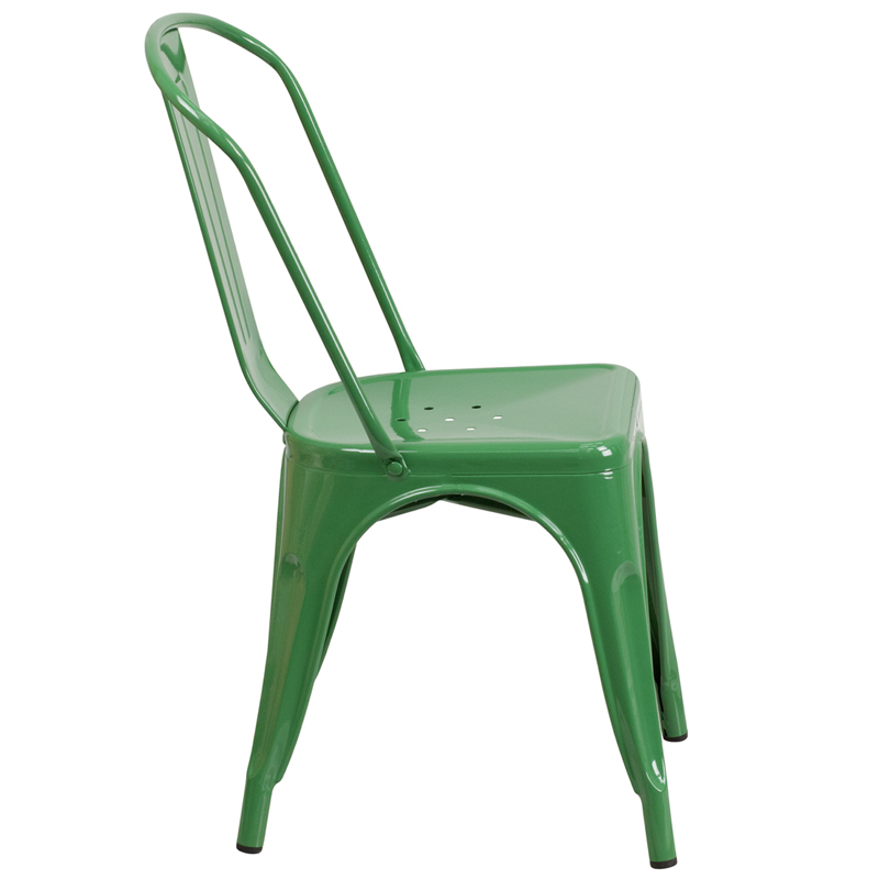 Green Metal Indoor Outdoor Stackable Chair by Flash FurnitureGreen Metal Indoor Outdoor Stackable Chair  CH 31230 GN GG  . Green Plastic Stack Chairs. Home Design Ideas