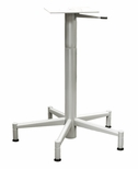 Grey Matte Adjustable 30'' Five Spoke Lift Base With Adj. Glides and Hand Lever [694-1030-GY-PMI]
