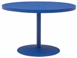 Hanna Outdoor Aluminum Dining Table with Cast Iron Base - 36'' Round [HA2I71P-WBV]