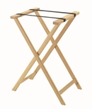 Hardwood Tray Stand with Nylon Support Straps - Light Stain and Semi Gloss Lacquer Finish [TS-1-AA]