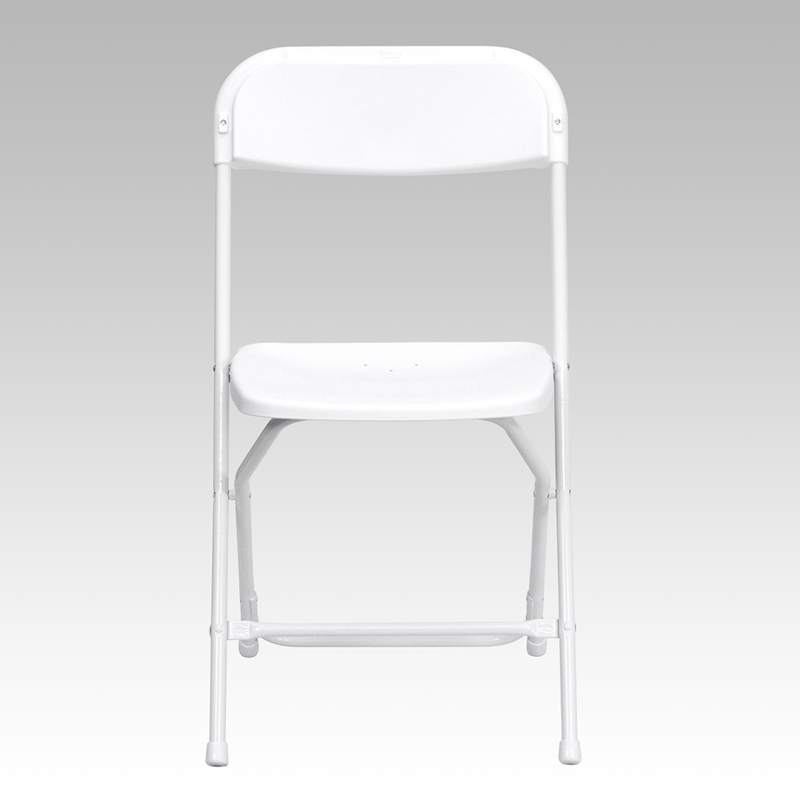 capacity premium white plastic folding chair by flash furniture