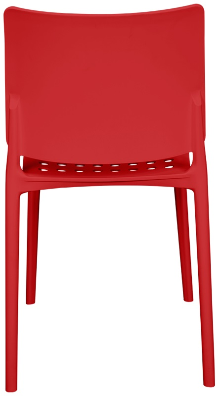 Marcay Resin Outdoor Stackable Armless Side Chair Red