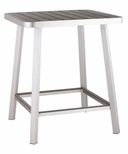 Megapolis Bar Table in Brushed Aluminum [703184-FS-ZUO]