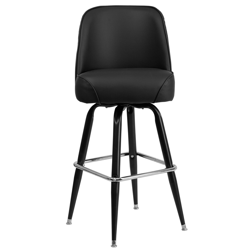 metal barstool with swivel bucket seat by t u0026 d restaurant equipment