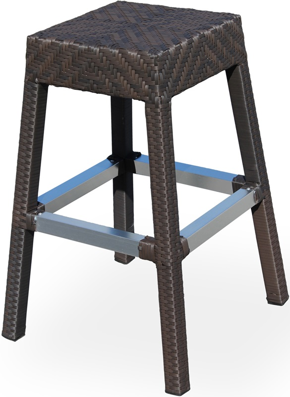 Miami Duraweave Stackable Backless Bar Stool Espresso
