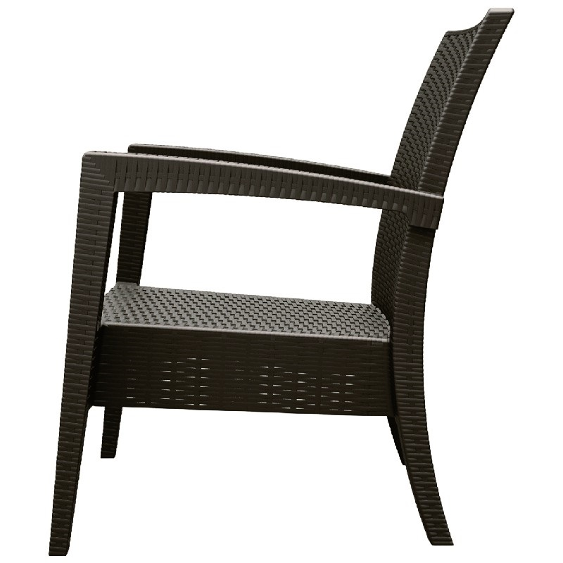 Miami Resin Club Chair Brown Isp850 Br