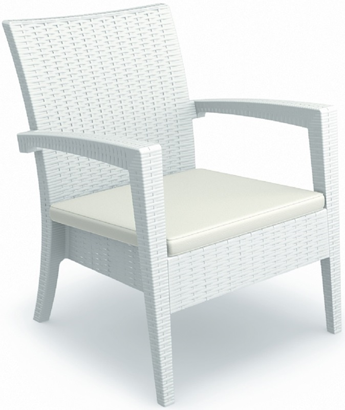 Miami Resin Club Chair White Isp850 Wh