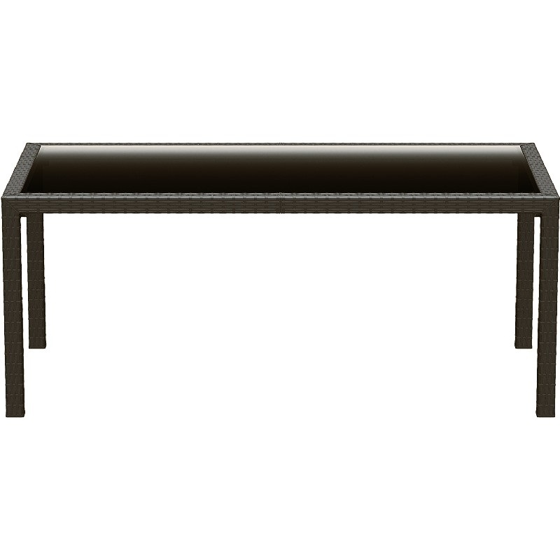 71 39 39 D Miami Resin Wickerlook Rectangle Dining Table