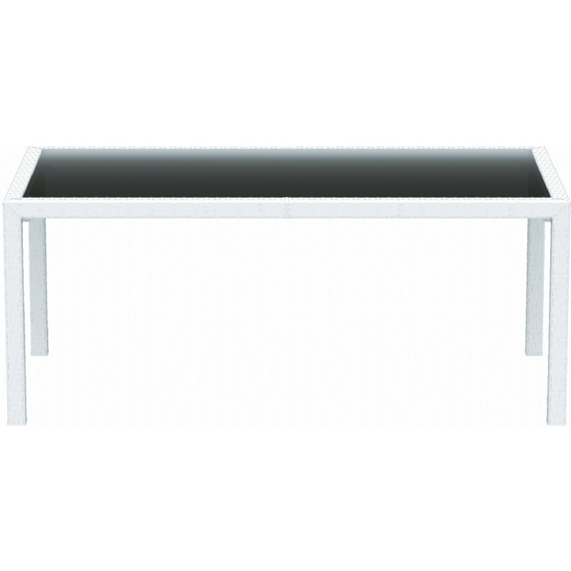 Miami Resin Wickerlook Rectangle Dining Table 71 39 39 D