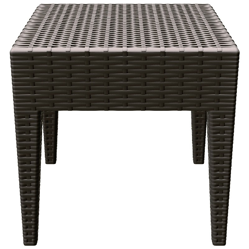 Miami Square Resin Side Table Brown Isp858 Br