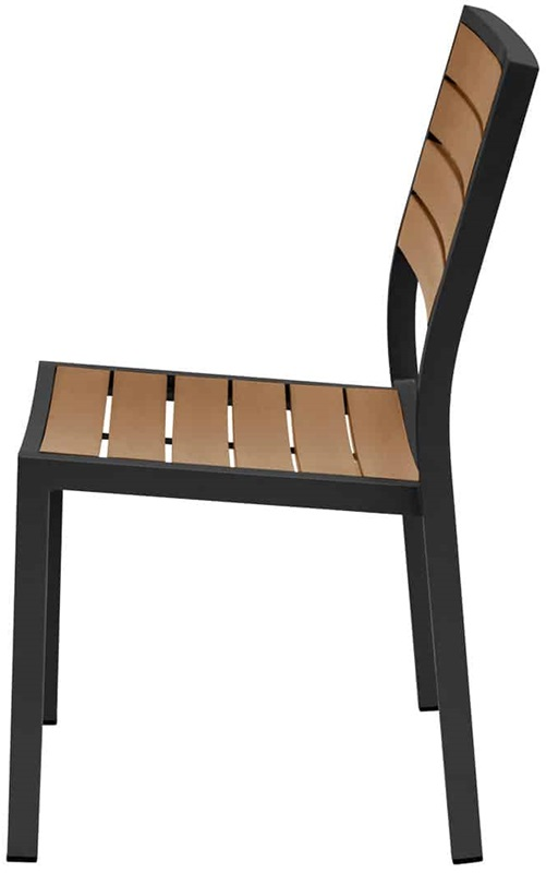 Napa outdoor armless dining side chair with teak durawood for Furniture 4 less napa
