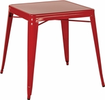 OSP Designs Patterson 26'' Metal Table - Red [PTR432-9-FS-OS]