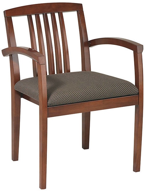 Osp furniture kenwood guest leg chair with wood slat back for Furniture 4 less napa