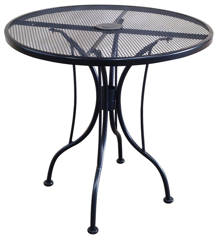 Outdoor Wrought Iron Table with 36 Round Top MT36R