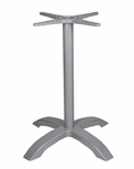 Palm 4 Aluminum Bar Height Table Base with Arched X Shape - Anodized Silver [SC-1002-540-ANS-SC-1002-583-ANS-SCON]