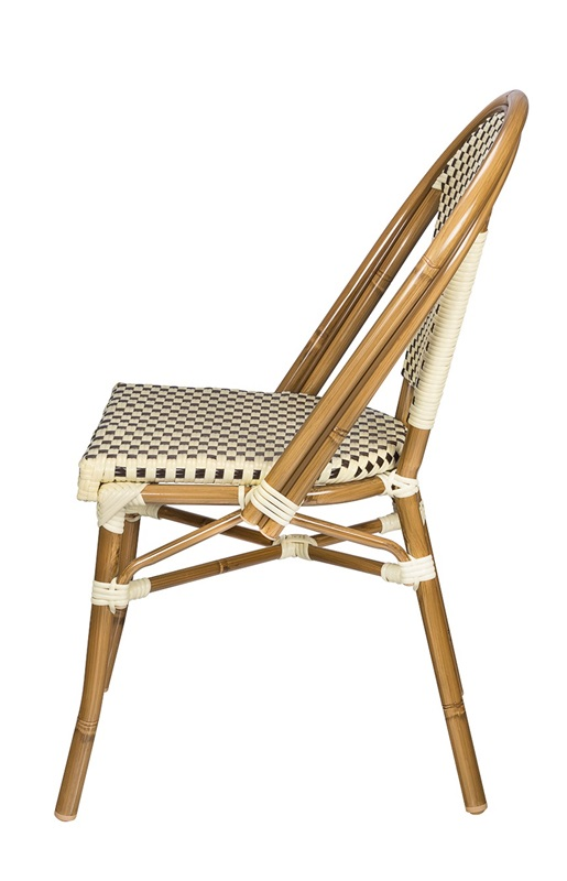 Paris Indoor Outdoor Stackable Armless Side Chair With