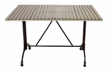 Nevada 48'' x 32'' Rectangular Gray Durawood Table Top with Rose 2 Table Base - Black [SC-1201-587-SC-2401-414-NEV-GRY-SCON]