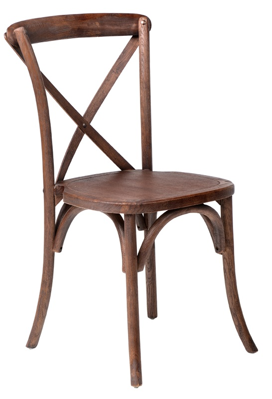 Stackable Wooden Chairs rustic sonoma solid wood cross back stackable dining chair