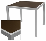 Sedona 32'' X 48'' Rectangular Table with Corsa Espresso Vein Table Top - Anodized Silver [SC-1014-414-ESP-SC-1009-524-ANS-SCON]